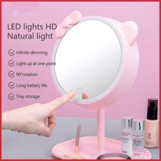 Gương Trang Điểm Đèn LED Đèn LED Trang Điểm Điều Chỉnh Độ Sáng Cảm Ứng, Gương Bàn Trang Điểm Sạc USB, Có Đèn Ngủ Để Bàn thumbnail