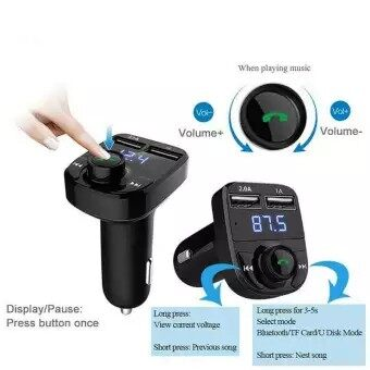 Giá bán Bộ Phát FM Trên Xe Hơi Bộ Bluetooth Rảnh Tay Cho Xe Hơi Máy Nghe Nhạc MP3 Bộ Sạc USB Kép