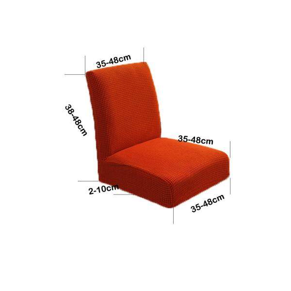 Perfk 2pcs Chair Cover Stretch Short Back Dining Chair Cover Protector, Orange