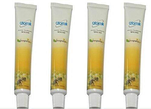 4pc Korean ATOMY Herbal Anti-bacterial Propolis Toothpaste 50g