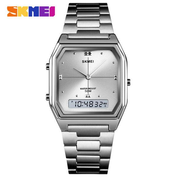 Nơi bán SKMEI Đồng hồ đeo tay kỹ thuật số nam nữ sang trọng bằng thép không gỉ chống thấm nước - INTL