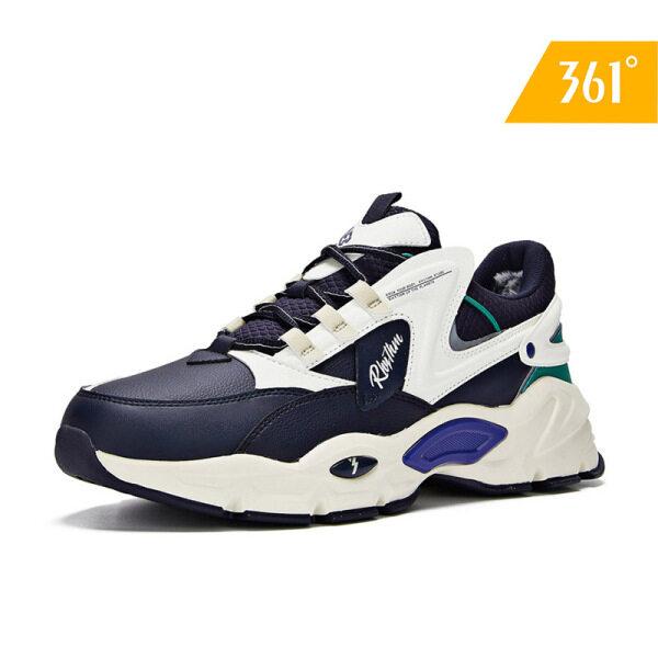 Giày Len Nam 361 Độ, Giày Thể Thao Vải Lưới, Ấm Áp, Phong Cách Cổ Điển, Retro, Mùa Đông, 571946704a