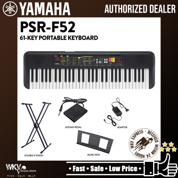 Yamaha PSR-F52 61 Keys Electronic Keyboard Portable Keyboard Package with Stand and Pedal (PSRF52 / PSR F52/ F51/ F 51) Malaysia
