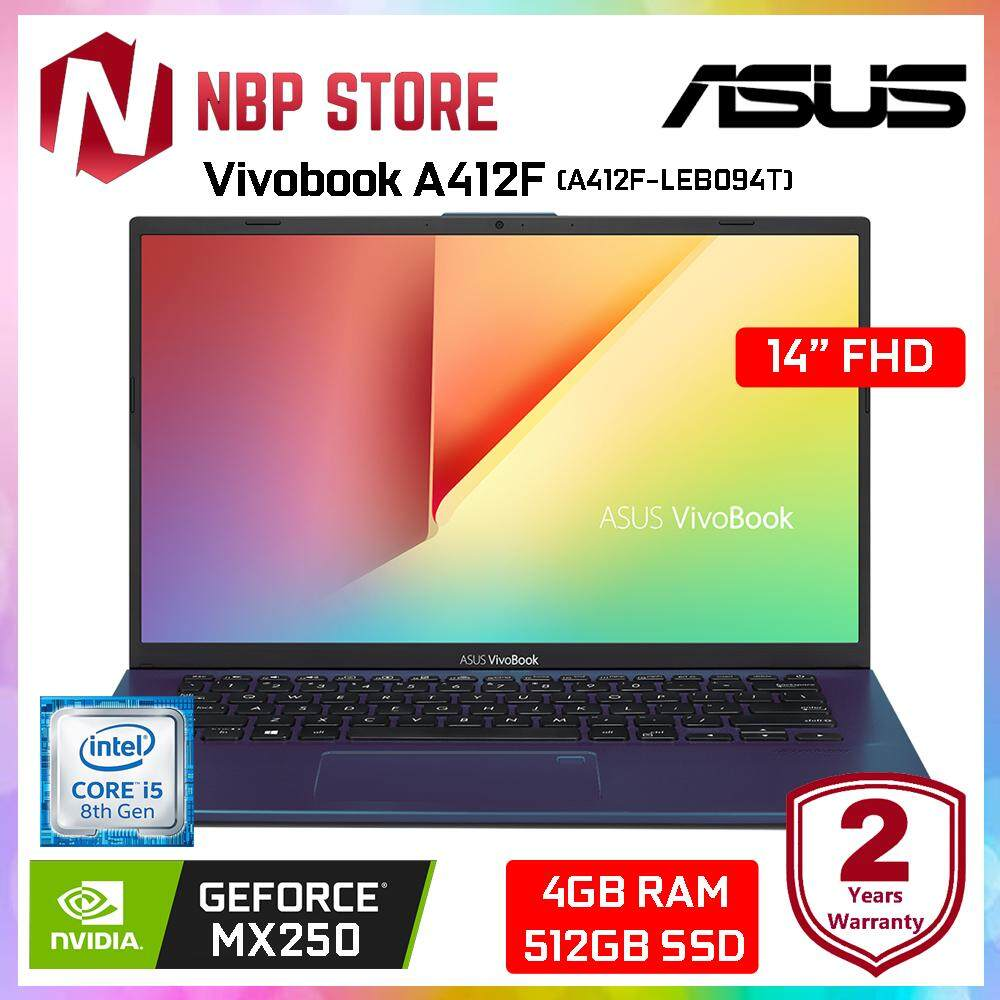 Asus Vivobook A412F-LEB094T 14  FHD Laptop Peacock Blue ( i5-8265U, 4GB, 512GB, MX250 2GB, W10 ) Malaysia