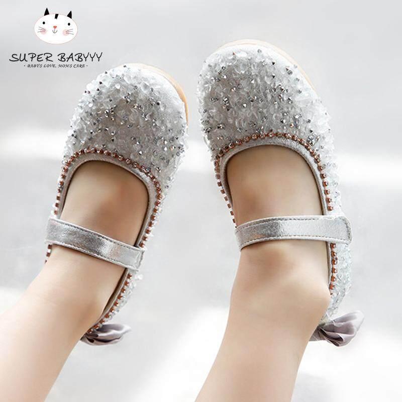 Giá bán SBY 1 Cặp Trẻ Em Cô Gái Sequin Giày Công Chúa Chống Trượt Thời Trang Cho Bữa Tiệc