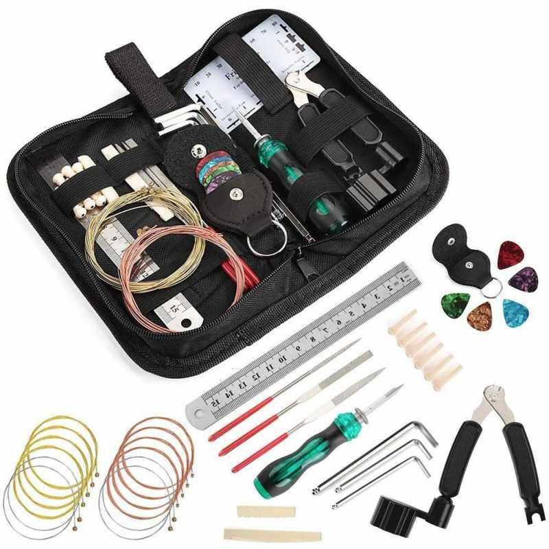 W006 Guitar Repairing Kit Guitar Care Kit Maintenance Tool Set Cleaning Accessories (Standard) Malaysia