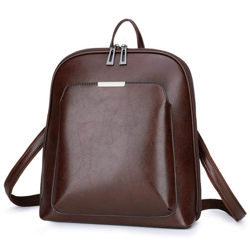 6186dc4e68 Vintage Backpack Female Leather Women s backpack Large Capacity School Bag  for Girls Leisure Shoulder Bags for