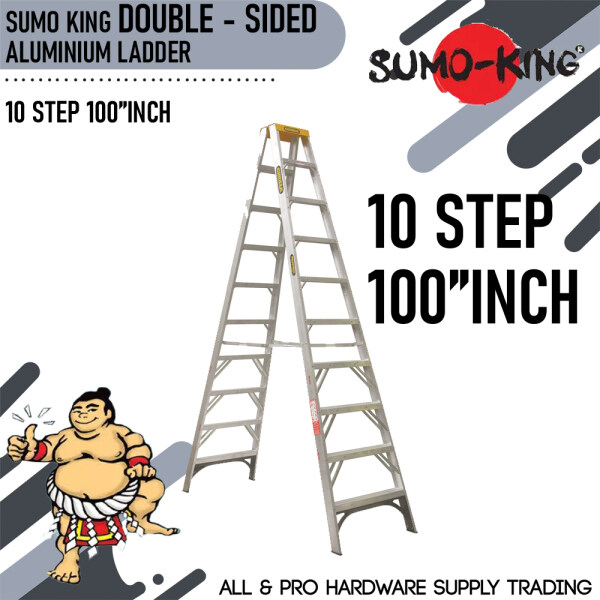 SUMO KING 10 STEP 100INCH DOUBLE SIDED LADDER