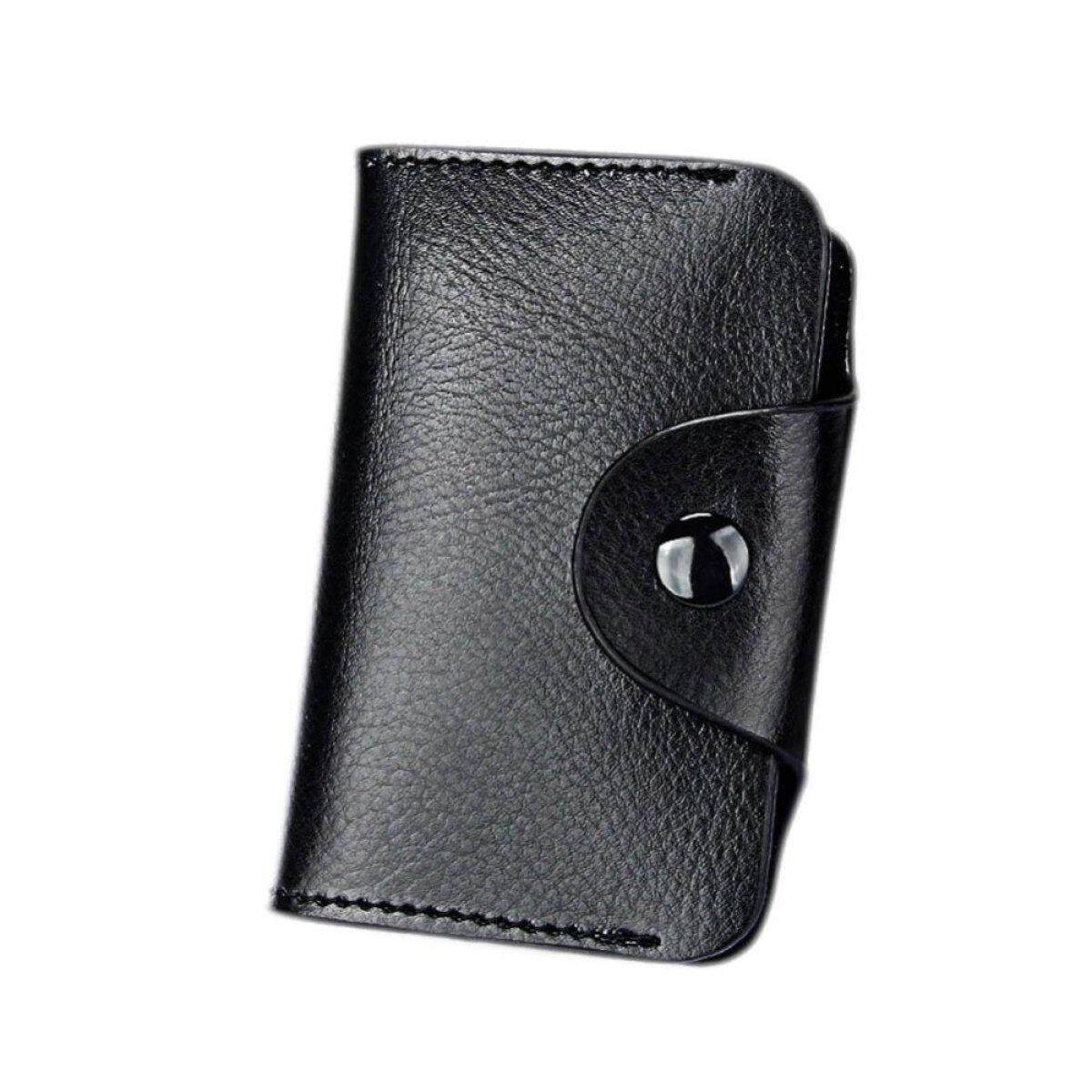 Kuhong Genuine Leather Aluminum Wallet RFID Blocking Pocket Holder Credit Card Case - intl