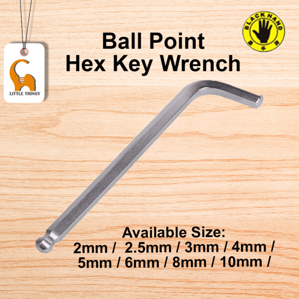 2.5MM Ball Point Hex Key Wrench Black Hand BH-172 LittleThingy