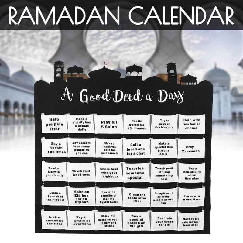 Lịch Mùa Vọng Ramadan Ả Rập Cho Trẻ Em, 30 Túi Đồ Trang Trí Theo Dõi Eid Mubarak Miễn phí vận chuyển