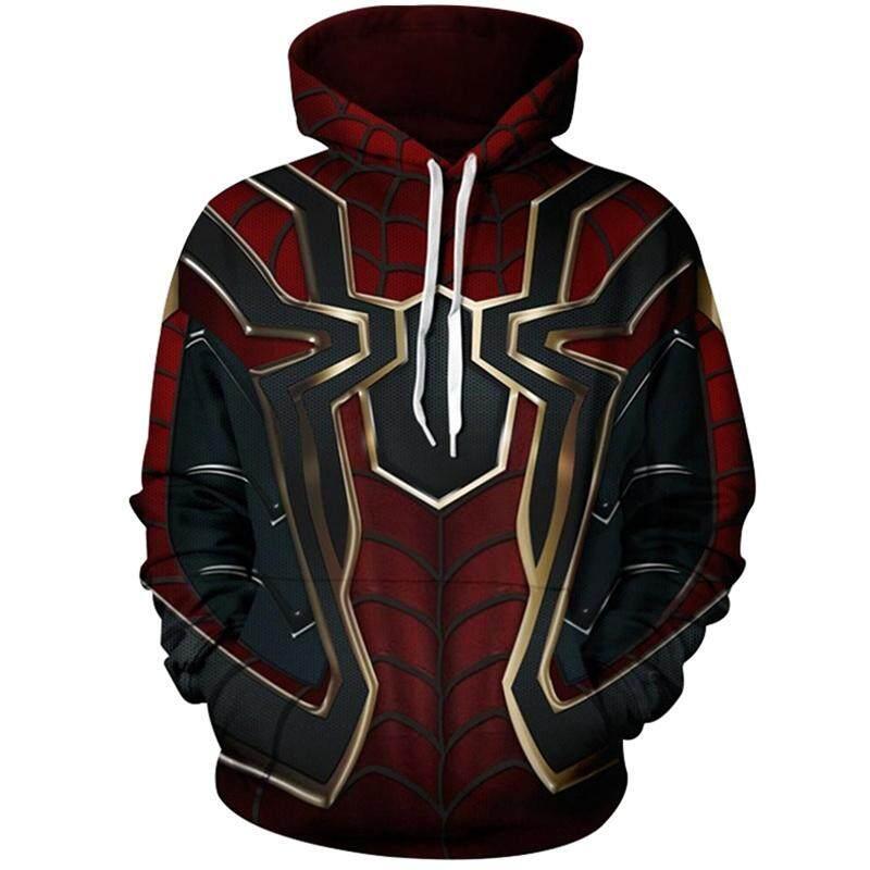 BZY Infinity War Spiderman Men Fashion Sweatshirt Hoodies Spider Coat Cosplay Costume
