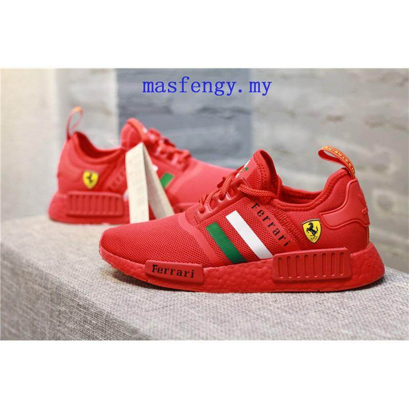 ชุมพร Authentic_Adidas_mesh_NMD_Shoes_F1_Red_Ferrari_Kasut_BOOST_YEEZY_RUNNING_SHOES
