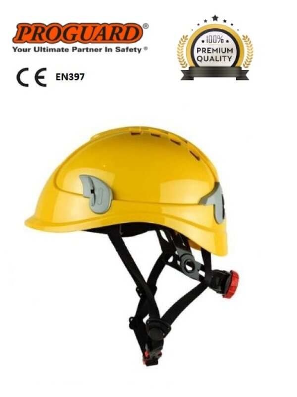 PROGUARD Alpin Plus Lightweight Ventilation Safety Helmet Fitted With Safety Spectacles & 4 Point Chin Strap