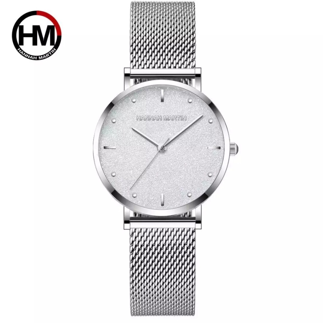 [FAST SHIPPING][ LOCAL SELLER] 100% Original New Brand Quality Assure H&M HANNAH MARTIN Fashion Watch For Women Business Causal Waterproof Watches Stainless Steel Starp JAPAN Movement Quartz Watches MS36 Malaysia