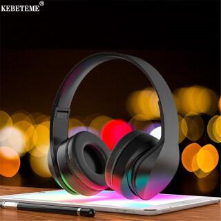 Tai Nghe Bluetooth KEBETEME, Tai Nghe Không Dây Âm Thanh Nổi Qua Tai Tai Nghe Chơi Game Bluetooth5.0 Có Mic thumbnail