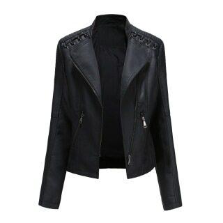 Áo Khoác Da Pu thường ngày cho Nữ fgh Mall, áo khoác xe máy mặc ngoài dáng ôm cho nữ, áo khoác giả da cho nữ thumbnail