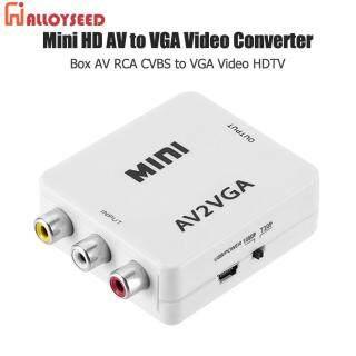 Hộp Chuyển Đổi Video Mini HD AV2VGA Bộ Chuyển Đổi HDTV Video AV RCA CVBS Sang VGA thumbnail