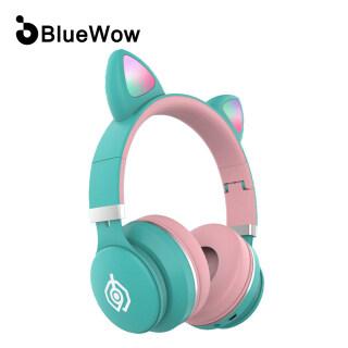 Màu Sắc Mới Tai Nghe Không Dây Dễ Thương Có Đèn LED Bluewow B031, Tai Nghe Bluetooth Tai Nghe Nhét Tai Dự Tiệc Âm Nhạc Micrô Tích Hợp Âm Thanh Nổi Hỗ Trợ Thẻ TF & Aux Dành Cho Trẻ Học Trực Tuyến thumbnail
