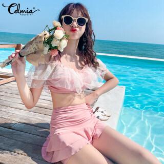 Đồ Bơi Tách Biệt Celmia, Phụ Nữ Của Hai-Mảnh Váy-Áo Tắm Phong Cách Mùa Xuân Nóng Bỏng Mỏng Và Tươi Mát Và Nhỏ Thơm thumbnail