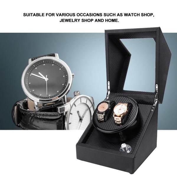 [RAYA SALE] 【Free 1 x Clean Cloth 】2+0 Automatic Watch Winder Box for Wristwatch Mechanical Watch 100-240V US Plug Malaysia