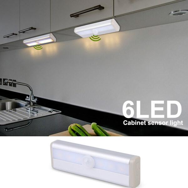 Bảng giá 6 Đèn LED Cảm Biến Chuyển Động PIR LED Đèn Ngủ Tủ Quần Áo Tủ Quần Áo Đèn Ngủ LED Dưới Tủ Cho Tủ Quần Áo Cầu Thang Nhà Bếp