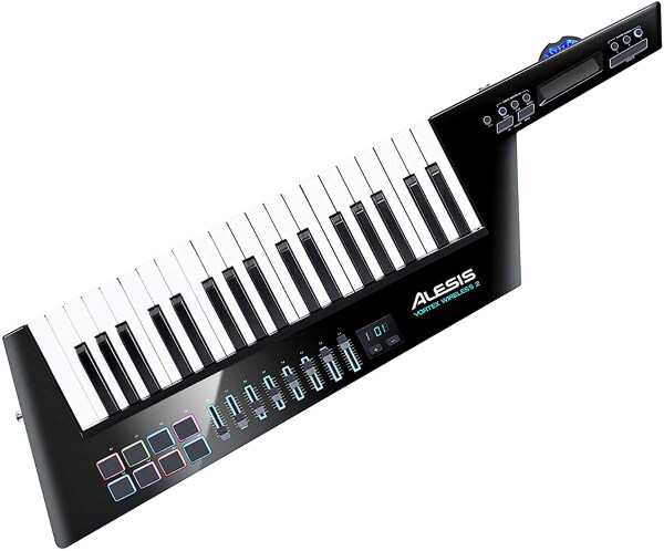 Alesis Vortex Wireless 2   High-Performance USB / MIDI Wireless Keytar Controller with Professional Software Suite Including ProTools   First Malaysia