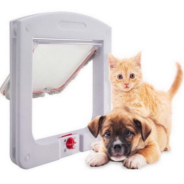 Thú Cưng Cửa Hond Phổ Thông Cửa Cho Mèo Động Vật Thú Cưng Nhỏ Chó Mèo Cửa Cổng Phụ Kiện Cho Thú Cưng Cửa Nhựa Dieren Benodigheden