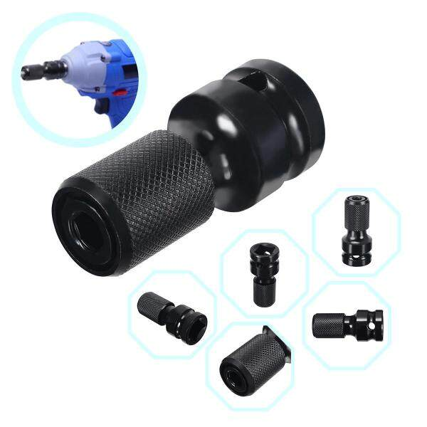 idealhere 1/2 Square to 1/4 Adapter 1/2Drive to1/4Hex Shank Socket Adapter Converter