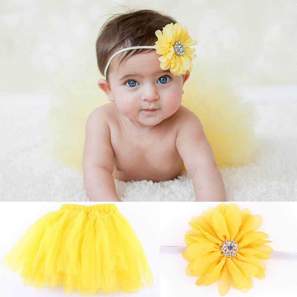 Indah Bayi Baru Lahir Bayi Balita Perempuan Ikat Kepala + Kostum Rok Tutu Foto Pakaian Prop By Twinkle2017.