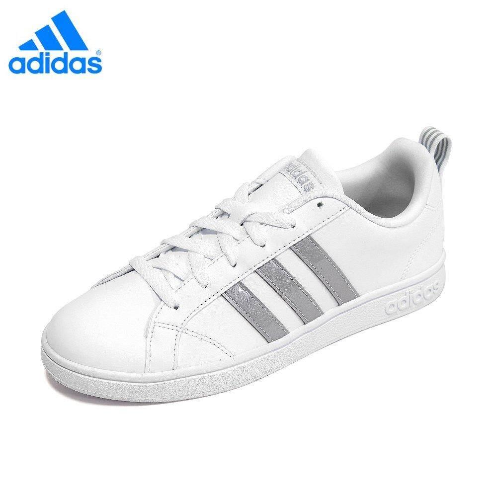 separation shoes 076bf 140b9 Adidas Unisex VS Advantage F34467 White Silver Casual Sneaker