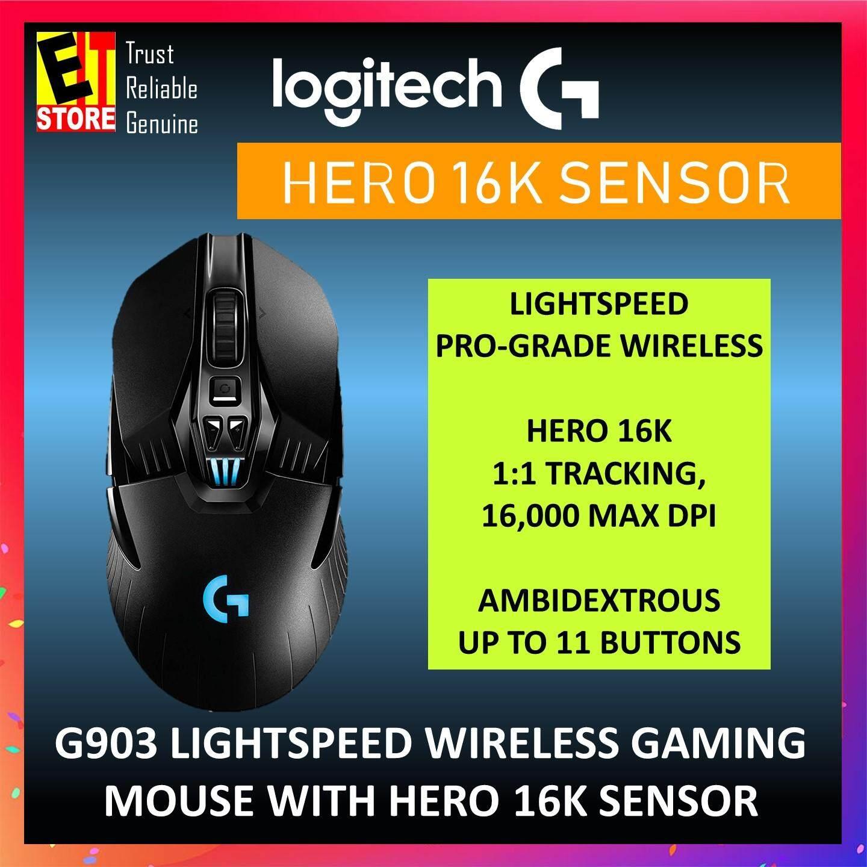 LOGITECH G903 LIGHTSPEED WIRELESS GAMING MOUSE WITH HERO 16K SENSOR  (910-005674)
