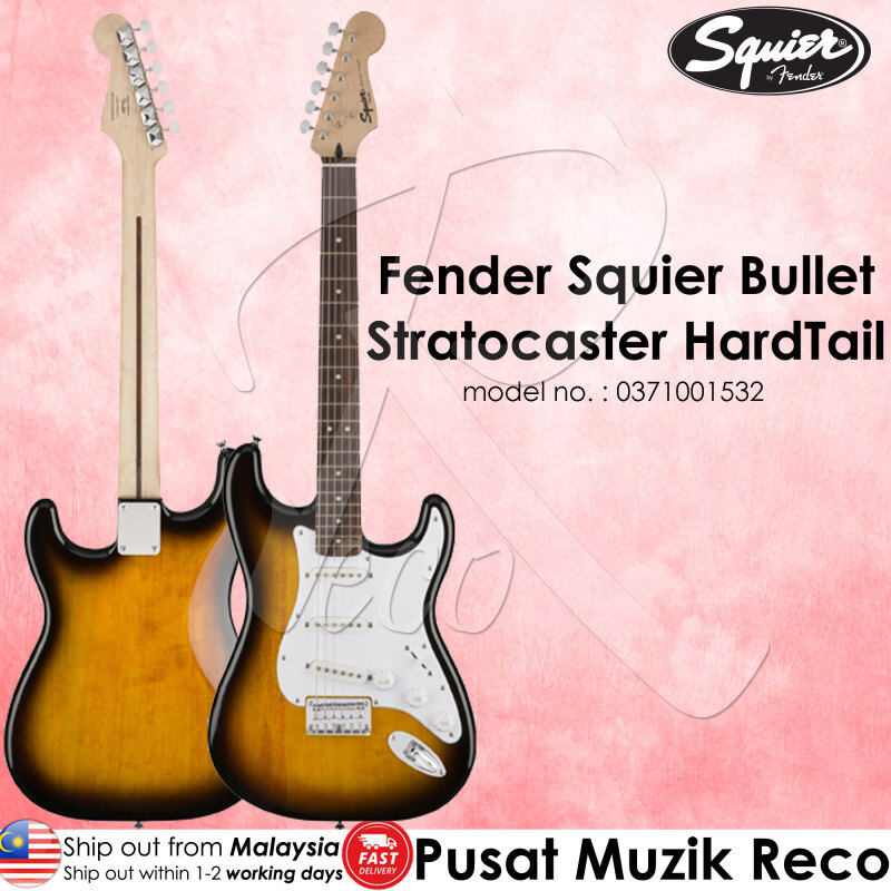 Fender Squier 0371001532 Bullet Stratocaster Hard Tail Electric Guitar Brown Sunburst Malaysia