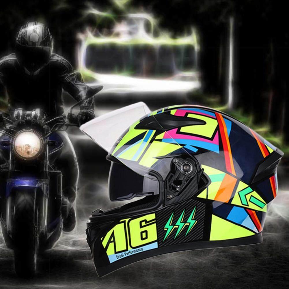 Motor Jiekai Helm Pria Dan Wanita Helm Seluruh Wajah Cover Kepribadian Keren Empat Musim Lensa Ganda Helm Balapan Sepeda Motor By Storeshop.