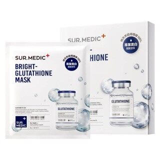 [Lấy mã giảm thêm 30%] Hộp 10 Miếng Mặt Nạ Dưỡng Trắng Sur Medic Bright Glutathione Mask thumbnail