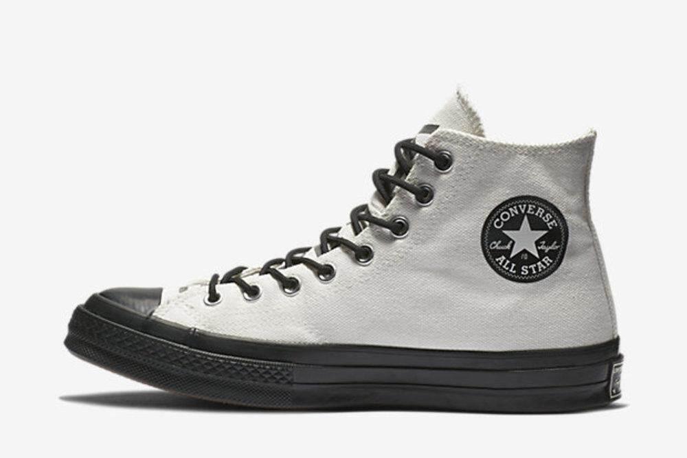 ต้นฉบับ Converse Chuck 70 Hi Gore-Tex/รองเท้าลูกไม้สายสูงสีขาว-วินเทจ.