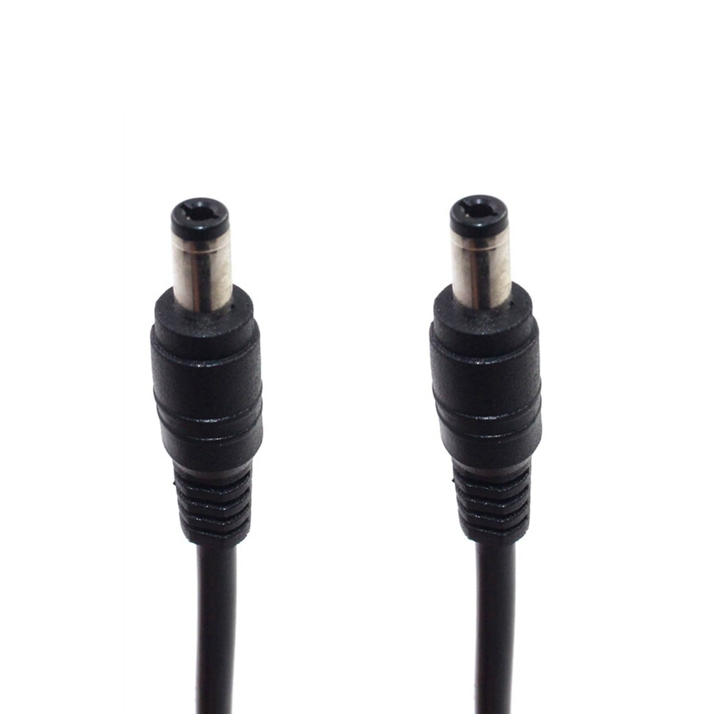 CCTV DC Power 5.5 x 2.5mm Male To Male Connector Extension Cord Cable 50cm 18AWG