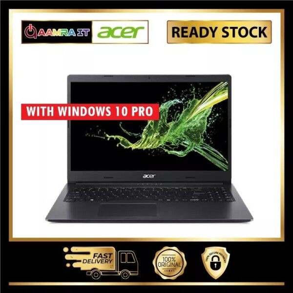 Acer Laptop Aspire 3 A315-34-C01W 15.6 Black (N4020, 4GB, 256GB, Intel, NO WINDOWS) Malaysia