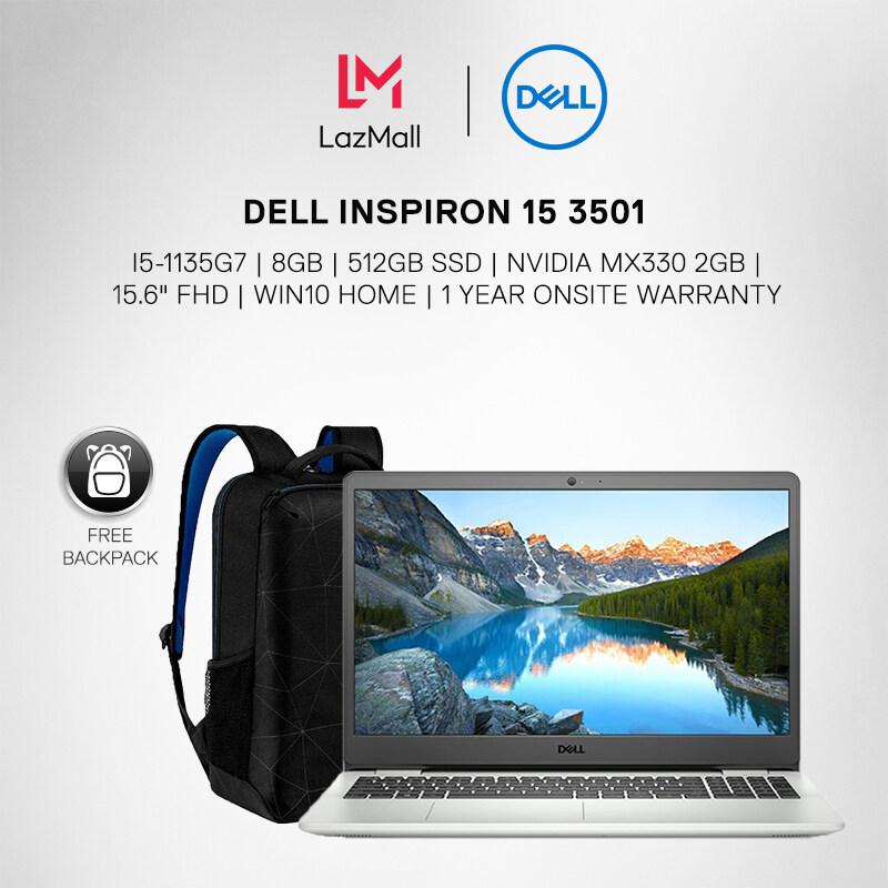 DELL INSPIRON 15 3501 (I5-1135G7/8GB/512GB SSD/NVIDIA MX330 2GB/15.6 FHD/W10/1YR) LAPTOP + DELL Backpack Malaysia