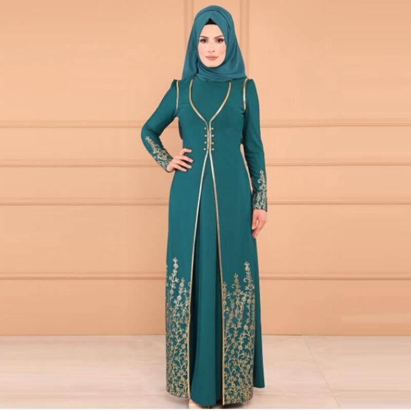Women Maxi Dress Baju Raya Muslim Wear Jubah Muslimah Kurung By Qianshananzhengfushi.