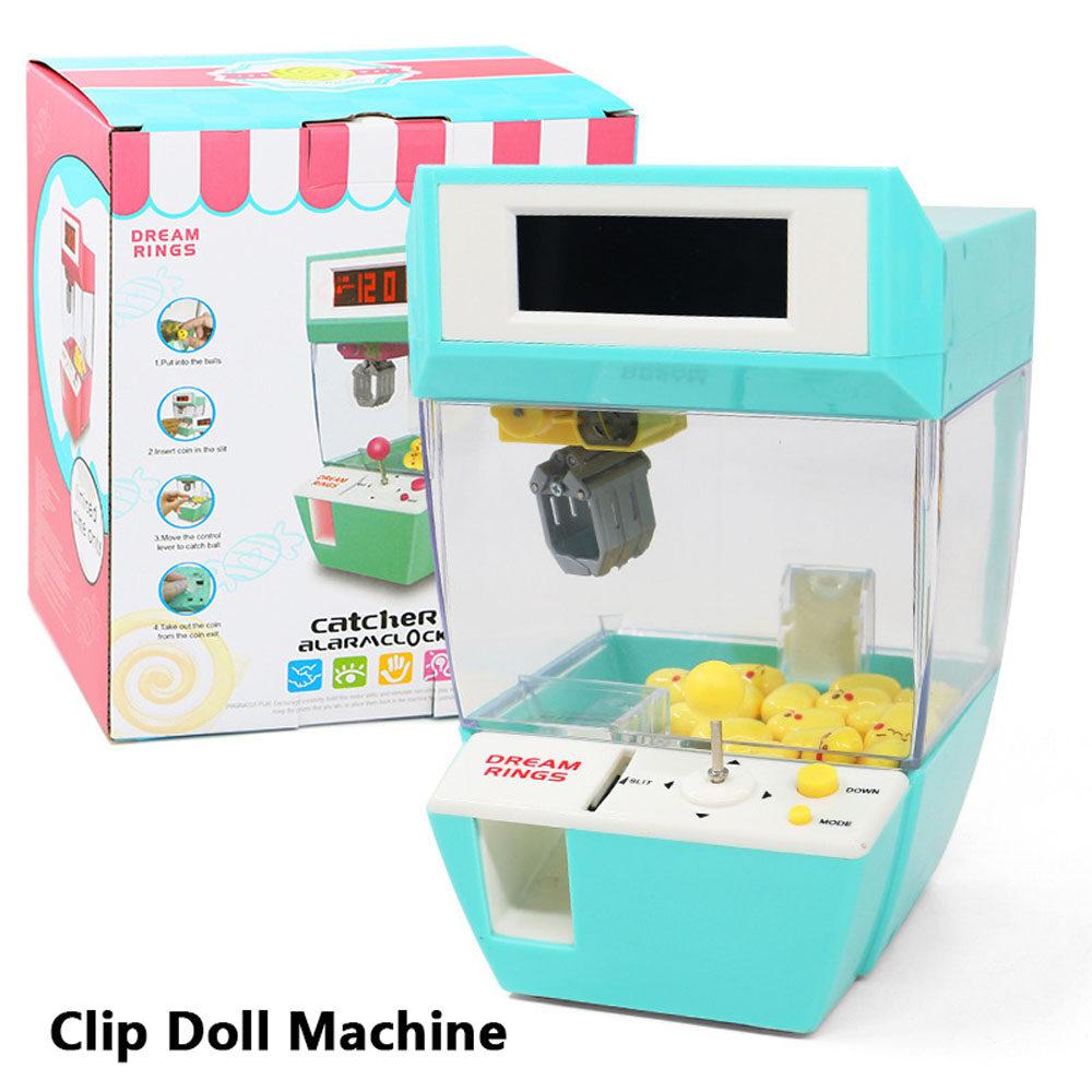 Máy chơi game chất lượng cao vui nhộn dddfgdf máy búp bê kẹp máy cẩu cho  trẻ em hoạt động bằng tiền xu đồng hồ báo thức bắt đồ chơi giáo dục,
