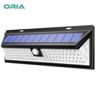 Đèn Năng Lượng Mặt Trời ORIA Đèn Tường Cảm Biến Chuyển Động Siêu Sáng 102 LED Ngoài Trời, Đèn An Ninh Sân Vườn Không Dây Với 3 Chế Độ Không Thấm Nước Và Tự Động Bật Tắt Dành Cho Lối Đi Sân Trước Nhà Để Xe thumbnail
