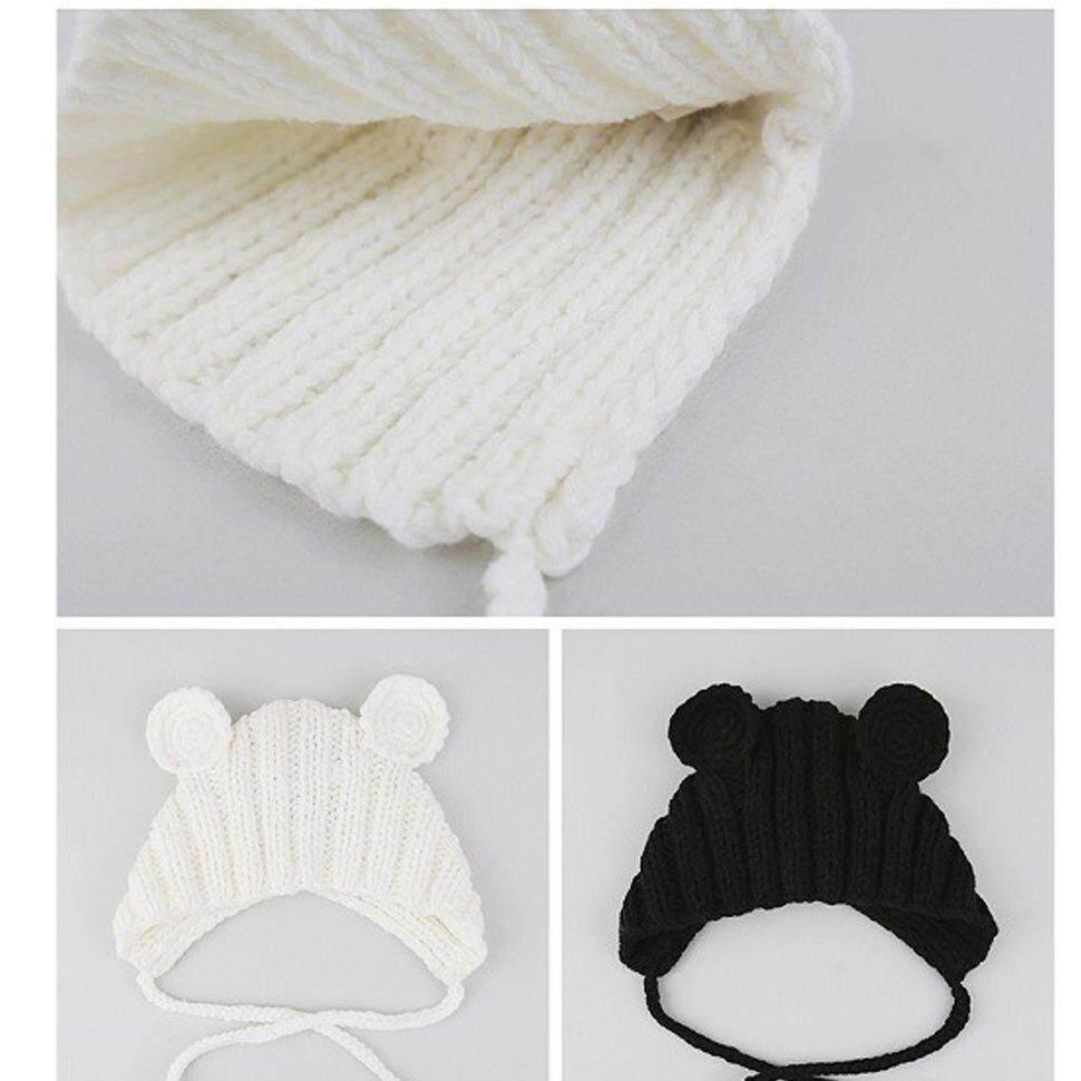 Image 3 for BGD ใหม่หมวกเด็กฤดูใบไม้ร่วงและฤดูหนาว 0-3 ปี Handmade หูหมีหมวก