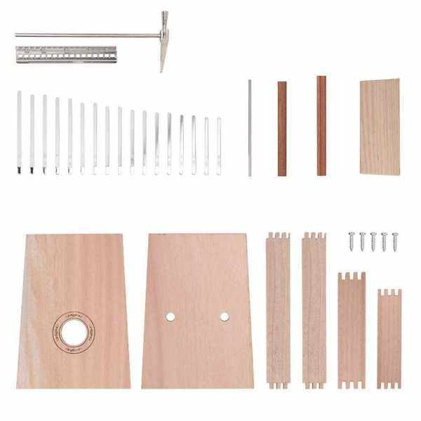 Simple Assembly 17 Keys Kalimba Handwork DIY Kit Basswood Finger Thumb Piano for Children Kids Musical Instrument (1) Malaysia