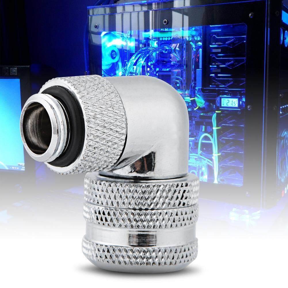 Giá Googoo PC Nước Làm Mát Cảm Ứng 2 Lắp G1/4 Chủ Đề 90 Độ Khuỷu Tay Kết Nối Cho 14 Mm Ống bạc