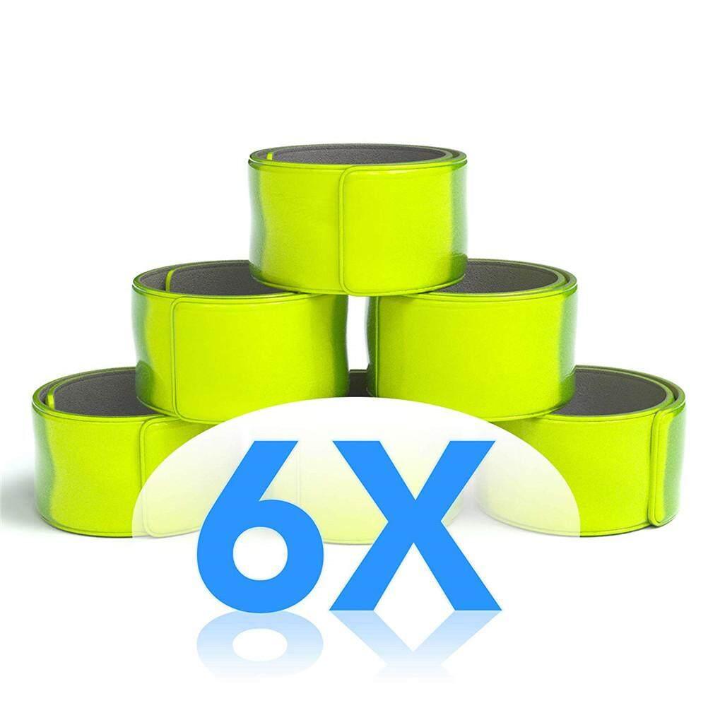 6 chiếc PVC Phản Quang Chụp Ban Nhạc Pop Vòng Tay An Toàn Gear cho Đi Xe Đạp Xe Đạp Chạy Đi Bộ