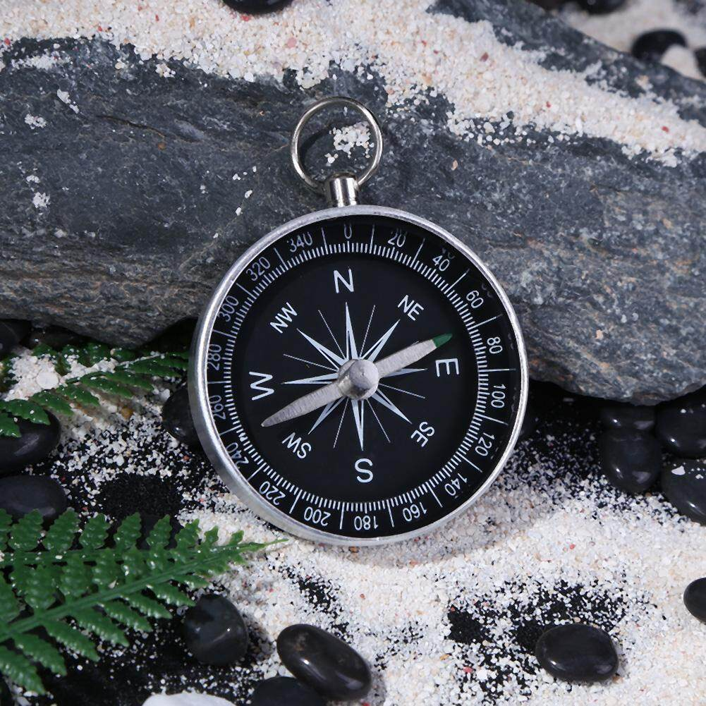 Pocket Compass Clip Retro Vintage Metal Outdoor Camping Hiking Survival Tools