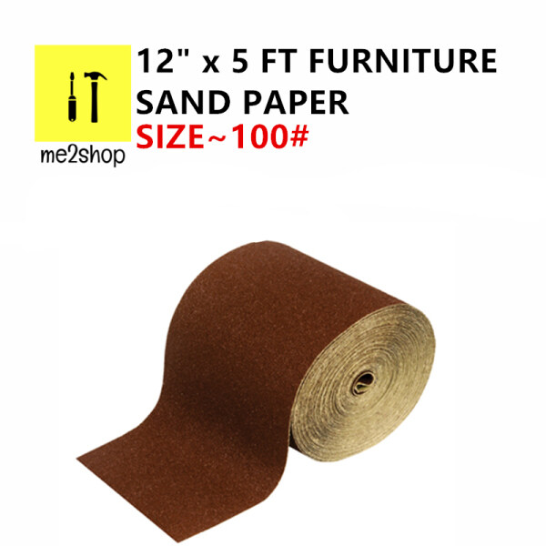 100# x 12 x 5FT PROFESSIONAL FURNITURE SAND PAPER