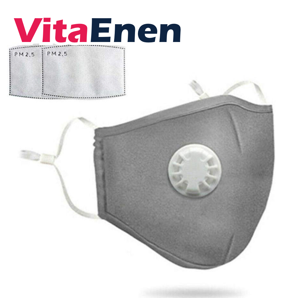 VITAENEN Breath filter purifier,Filter bacteria,PM2.5 Haze Valve Anti-dust Mouth Healthy Easy Breathe Reusable Washable,Air Purifying,Dust Particulate Respireator with Breathable Valv,Activated carbon filtration