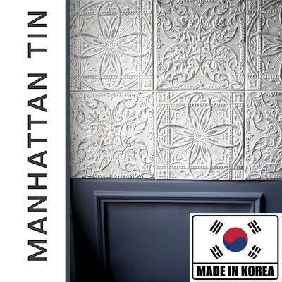 MANHATTAN FOAM TIN TILE Wall Tile Cushion Tin Panels Peel and Stick Foam Jubin Dinding